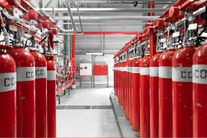 ildslukkere på lager ved beredskabsstyrelsen