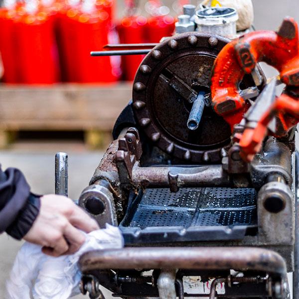 DK Brandteknik vedligeholdelse af udstyr
