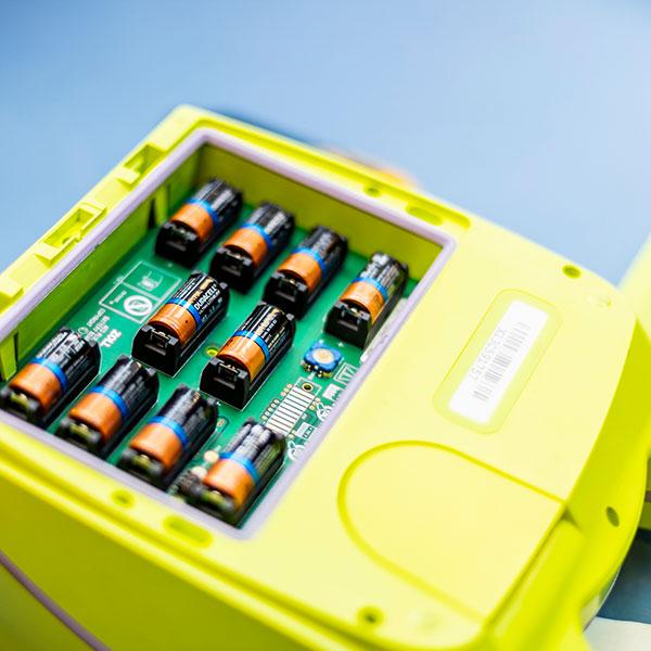 batterier til hjertestarter